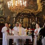Audienční mše svatá u relikvie bl. císaře a krále Karla I. Rakouského se konala ve 13. hodin v brandýském kostele Obrácení sv. Pavla.