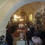 Audienční mše v kostele sv. Pavla.