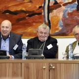 Starosta městské části Praha 1 Ing. Oldřich Lomecký, arcibiskup pražský a primas český Dominik kardinál Duka OP a poslanec Karel kníže Schwarzenberg.