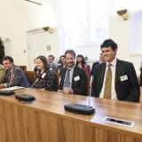Zleva: Karel hrabě Paar, Johannes princ Lobkowicz, Dagmar Petrů, Vladimír dědičný princ Lobkowicz, Václav hrabě Bořek-Dohalský a Dagmar hraběnka Strachwitzová.