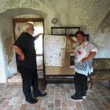Autor rodokmenu Jan Drocár a starostka obce Hana Moravcová.