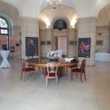 Výstava je součástí prohlídky zámku, který je otevřen o víkendech a v době prázdnin každý den kromě pondělí .