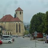 Masarykovo náměstí s kostelem sv. Jakuba Staršího.