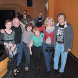 s přáteli na koncertě Jasné páky v Žižkovském divadle.