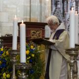 Mladší bratr zesnulého Karel Albrecht hrabě Waldstein-Wartenberg, P. Angelus O.S.B.-klášter Ettal.