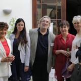 Zleva Nina Nováková, ?, Michal Dujka, dr. Anna Matoušková, Milada Karasová a Kateřina Daczická..